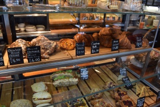 Pastries and sandwiches on offer
